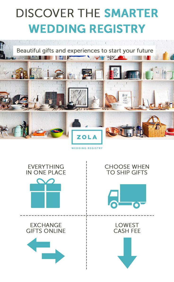 Avoid Registry Stress By Registering With Zola Is The Smarter Wedding