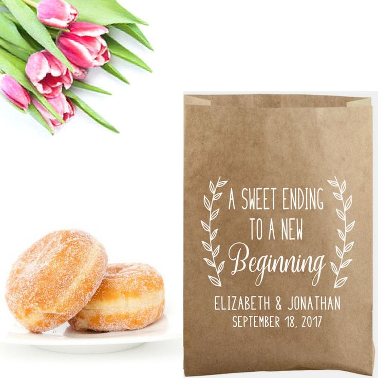 Looking for a stylish way to personalize your wedding favors? Dress up your favor bags of cookies, donuts and more with a custom SWEET ENDING TO A NEW BEGINNING stamp to create a thoughtful detail your family and friends will love. Great to use at your sweets table! . . . . . . . . . . . . . . . . . . . . . . . . . . . . . . . . . . . . . . . . . . . . . . . . . . . . . . . . . . . . When you order a Southern Paper & Ink stamp, you'll enjoy fast, friendly service and the best quality stam...