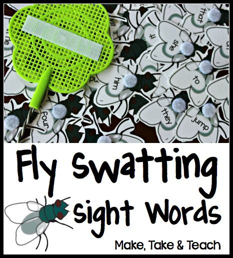 Fly Swatting Sight Words. Great hands on activity for learning and practicing sight words!