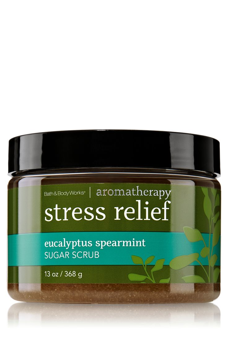 Not only do I inhale this stuff in the shower and the stress melts away, but I have keratosis on the back of my arms and this removes it.  I LOVE the smell.  Stress Relief - Eucalyptus Spearmint Sugar Scrub - Aromatherapy - Bath & Body Works