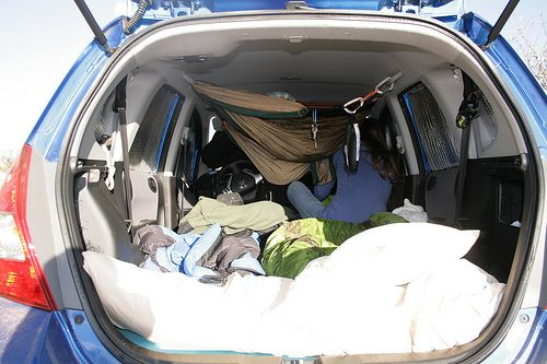 Camping in your Honda Fit