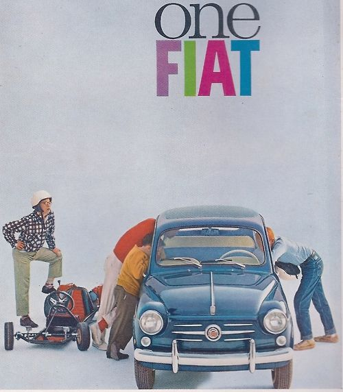 FIAT and the much faster 5 hp Go Kart. Road & Track December 1961