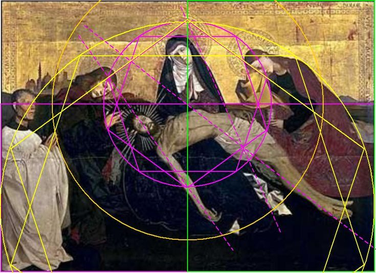 The use of the golden section at Enguerrand Quarton -- painter's secret geometry applied in the middle ages