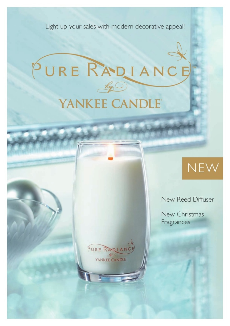 yankee-candles-uk-pure-radiance by Yankee Candle via Slideshare. The Pure adiance range is available to purchase online from http://www.Yankee.co.uk