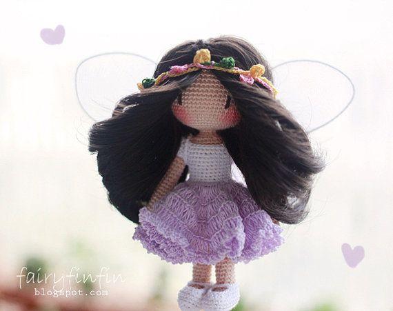 Crochet Butterfly fairy doll от FairyFinFin