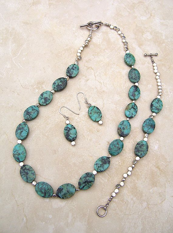 turquoise and silver necklace | Handmade Turquoise Jewelry Turquoise and by GodivasJewelryBox, $85.00