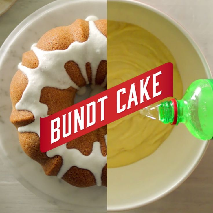 7UP Bundt Cake: The one and only 7UP cake! Mix it up, drizzle with a lemon-lime glaze and serve it at your next dinner or birthday party. Or for breakfast. Why not?