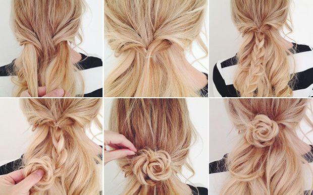 penteados simples passo a passo para fazer sozinha - Pesquisa Google