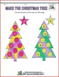 christmas math games christmas tree game - Christmas Tree Games