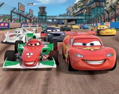 Walltastic Tapeta CARS auta Disney fototapeta ----