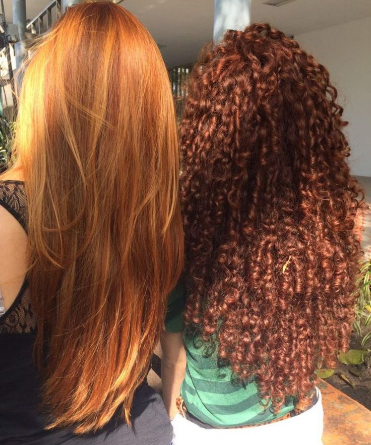 Red hair natural curly straight henna diy coily