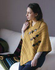 Revista principiantes 5 Otoño / Invierno | 11: Mujer Poncho | Mostaza