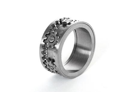 kinda unique:-) Gear Ring, a industrial treasure by KinektDesign