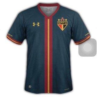 Terceiro uniforme São Paulo goleiro (Foto: Divulgação) Globoesporte.com. #SPFC #Saopaulofc #tricolor #morumbi #tricolordomorumbi #shirt #soccershirt #uniforme #soccer #futebol #footbal #football