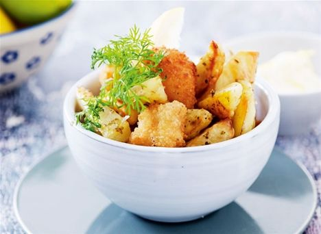 Fish & chips med citronmayo