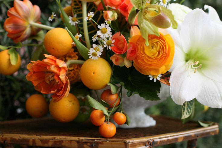 flowers & fruit | pretty | Pinterest | Orange, Flower and ...