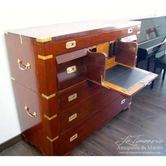 Ancienne commode secrétaire bateau acajou Paquebot l'Aquitaine1890. Antique  Desk, Nautical Furniture ... - 273 Best Nautical Furniture Nautical Antiques Images On Pinterest