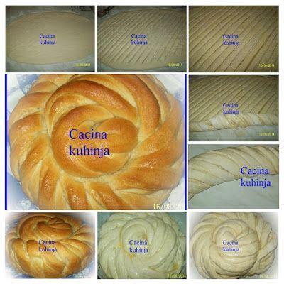 Posna uvijena pogaca od posnog ludog testa /Fasting wrapped cake of crazy dough
