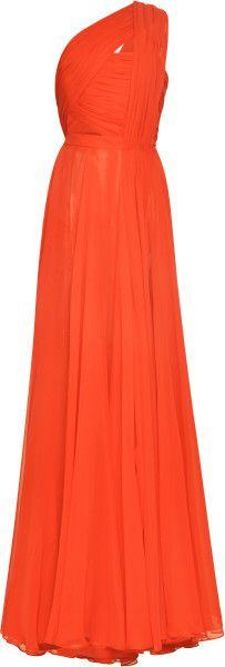Love this: Crimson Handdraped Chiffon Gown prabal garung dressmesweetiedarling