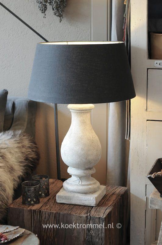 Popular stenen balluster lampvoet
