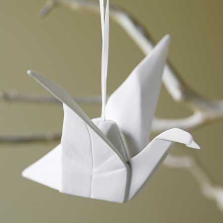 origami birds_ I want origami birds to be wedding favors folded from out invitation at my wedding <3