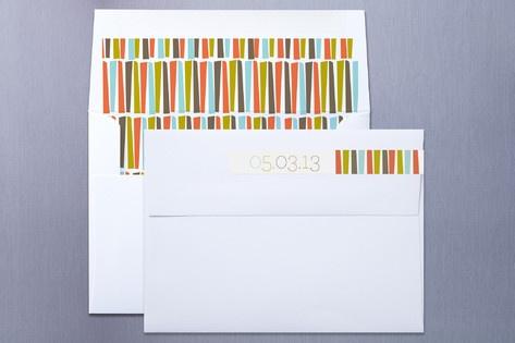 envelope label and liner