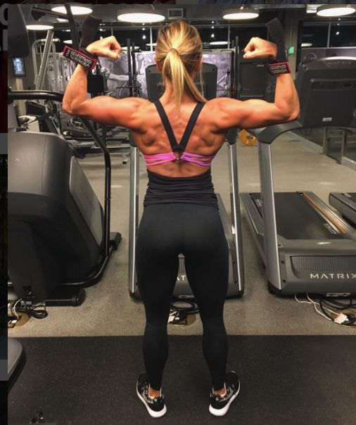 What do you think? #fitspo #girlpower  Paige Hathaway... Amazing Back!