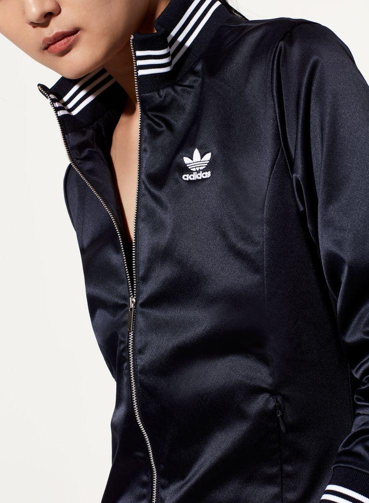 Adidas Satin Track Top - Aritzia