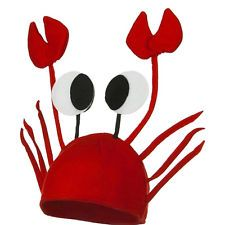 Lovely Red Lobster Crab Sea Animal Hat Costume Accessory Adult Child Cap Novelty