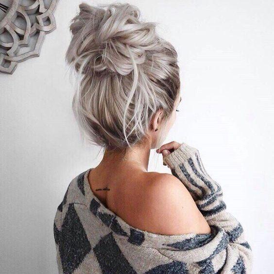 22 Pretty Easy Bun Frisuren zu versuchen – Easy Bun Hochsteckfrisuren