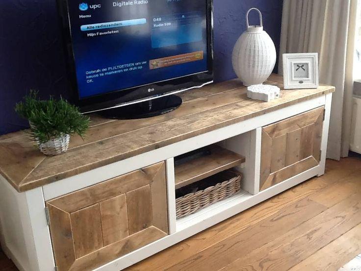 steigerhout-tv-meubel  Hout / Steigerhout /old wood/ drift wood  Pi ...