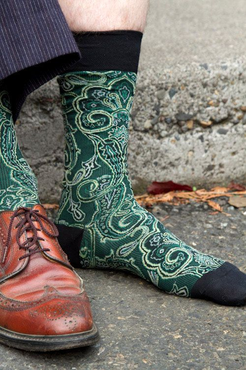 Some of the most gorgeous paisley socks we've ever seen!