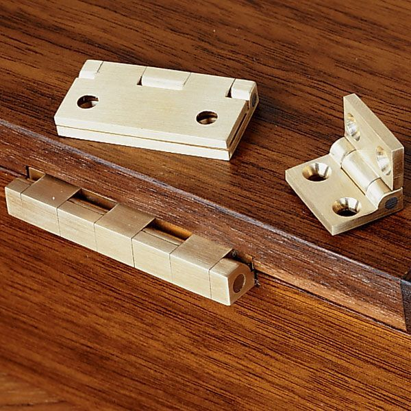 "Buy Brusso Small Box Hinge 3/4"" L x 1/2"" W, 2 piece at Woodcraft.com"