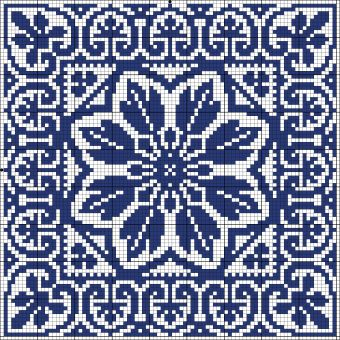 Cross-stitch Square... no color chart available, just use pattern chart as your color guide.. or choose your own colors... | gancedo.eu