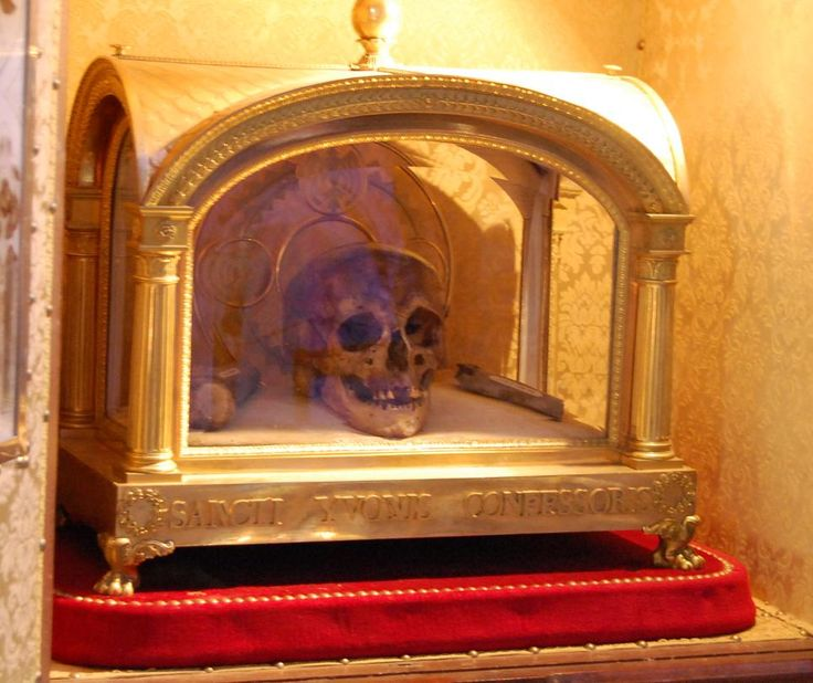 Relic skull and reliquary of Saint Ivo of Kermartin (also