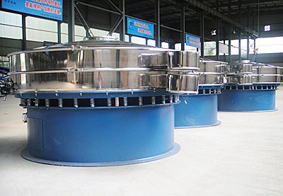 The rotary vibrating sieve can be used in ceramic powder, resin, coating, silica gel, sugar powder, rice, flour, condiment, aluminite powder, mineral powder, abrasion powder, silicon carbide, silica sand etc metallurgy, medicine, metal, food, fine material etc industries.
