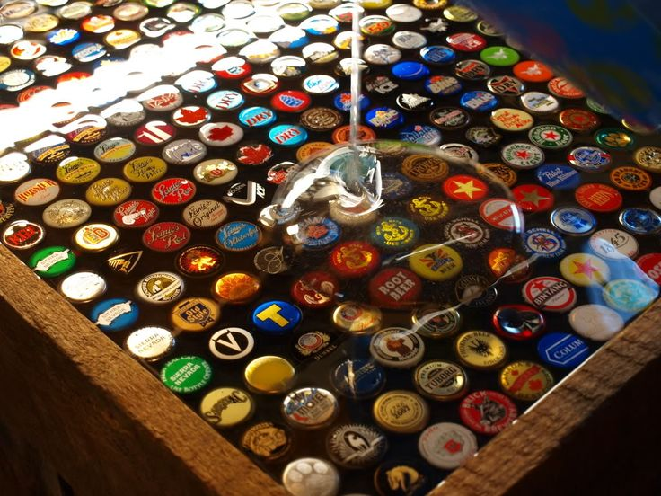 77 best images about the man cave on pinterest for Beer cap bar top