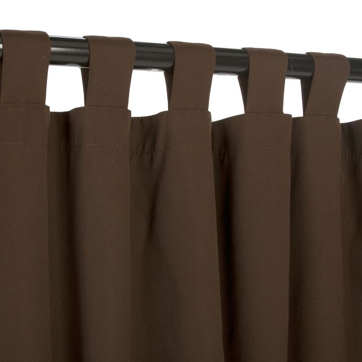 Bay Brown Sunbrella Outdoor Curtains Tab Top