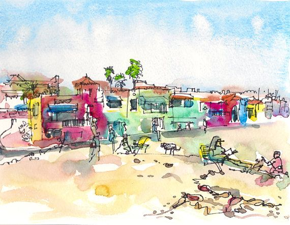 Venetian Beach Houses, Capitola Beach, California.