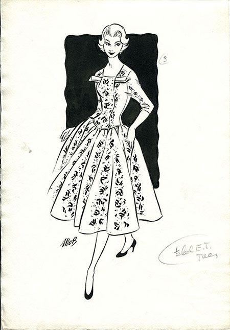 Margaret Oliver Brown fashion illustrator (archive reference: DC/51/2/8).