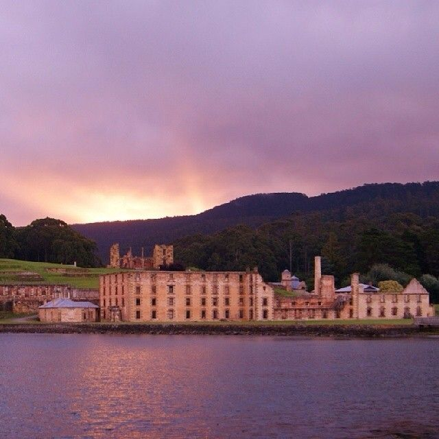 The Port Arthur Historic Site bathed in soft light. The World Heritage listed convict site is Australia's most intact and evocative - just a 90 minute drive south of Hobart.