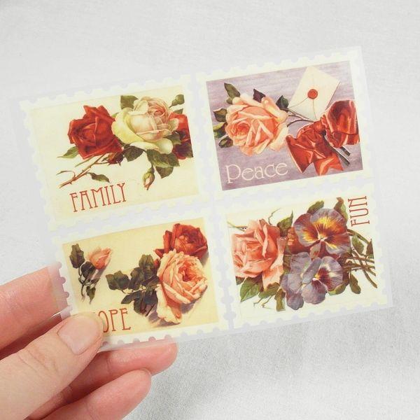 Nažehlovačky Poštovní známky - květiny II