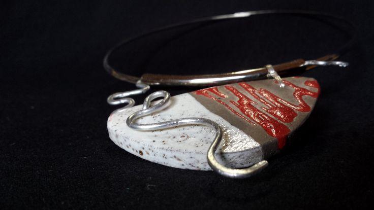 Jewelry - ceramic Raku by Fosca Rovelli