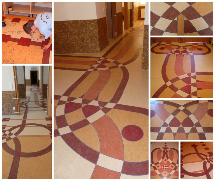 """It's a """"linoleum"""" inlay floor with modern and exciting look."""