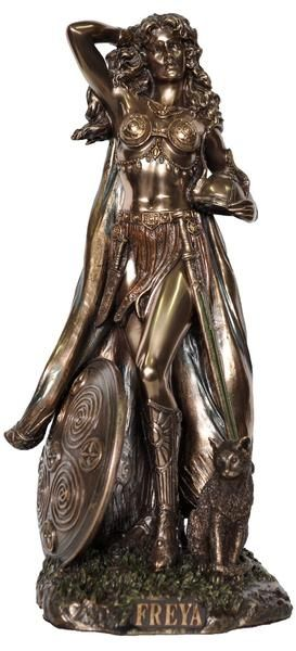 Freya Norse Warrior Goddess of Love Beauty Destiny Veronese Bronze Fig – Hekate Fantasy Giftware and Art