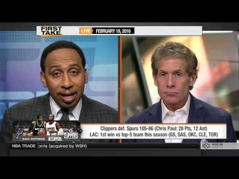ESPN First Take Today 2/19/16 | SPURS VS CLIPPERS : SCORE, HIGHLIGHTS AND REACTION - YouTube