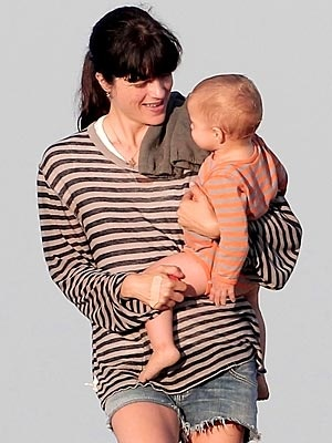 Spotted: Selma Blair and Arthur's Seaside Stripes – Moms & Babies