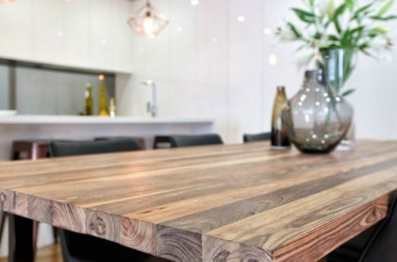 Gorgeous timber dining table by Stolly Designs