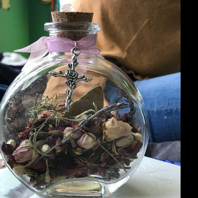 witch blessing yule ornament wiccan spell herbal tree ball pagan protection witchcraft