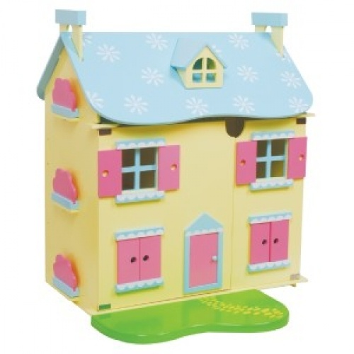 Discoveroo Dolls House w/ FREE Room Setting!Wooden Dolls, Dollhouse, Discoveroo Dolls, Snowflakes Wooden, Dolls House, Doll Houses